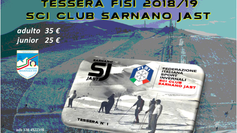 Campagna tesseramento F.I.S.I. stagione 2018/19